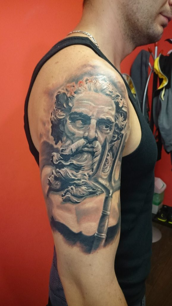 Poseidon Staff Tattoo: Salvation Tattoo Studio